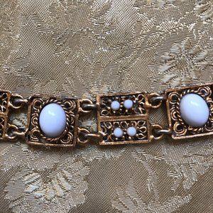 Vintage Jewelry - VINTAGE - White Enamel Bracelet